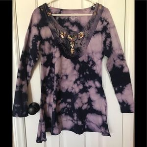 RXB Purple Tie-dye size L tunic nice design